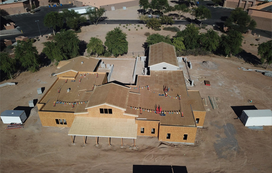 New AZ Friends for Life Building Aerial View